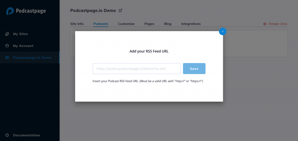 Add your RSS feed