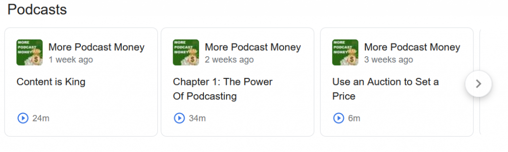 Podcast SEO - Google Podcasts