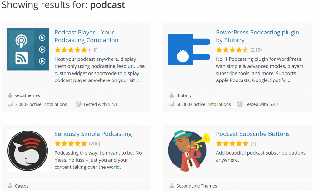 podcast plugins
