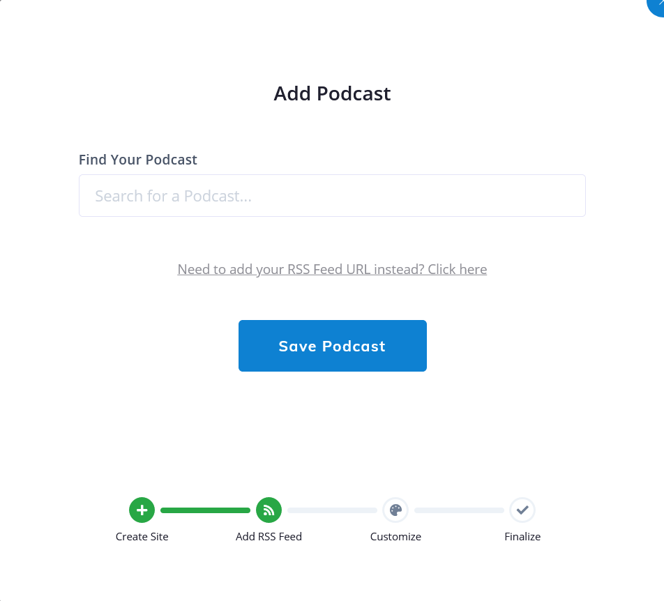 create a podcast website with Podcastpage.io