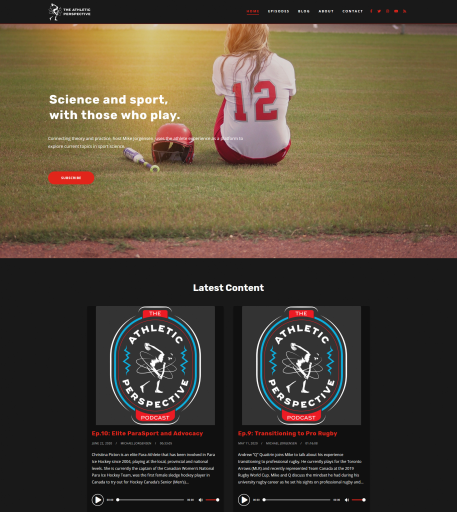 podcast website template - tusant