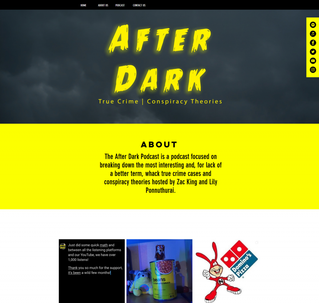 podcast website example - wix
