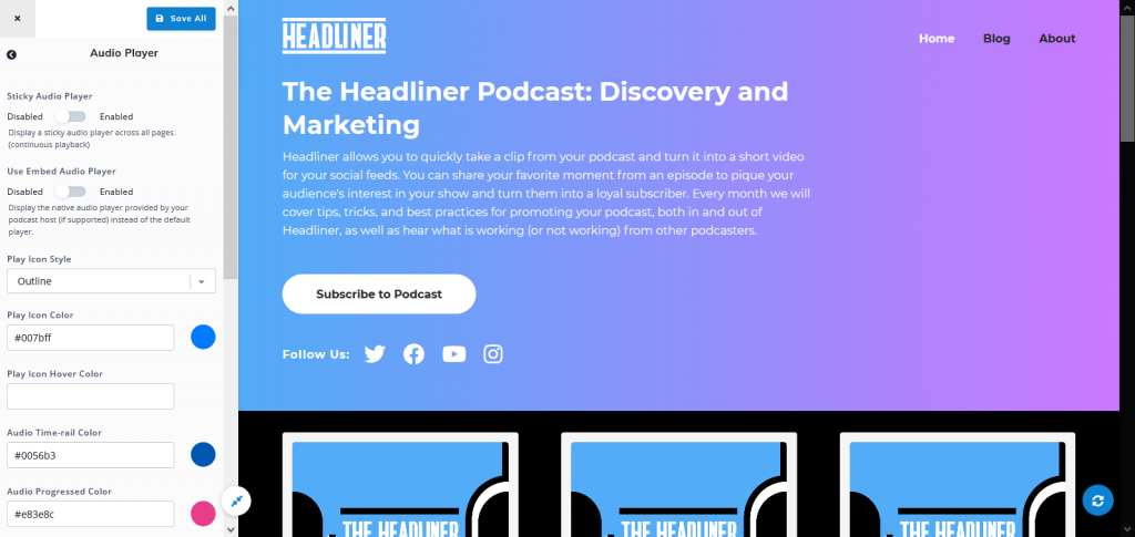 Podcastpage podcast website builder