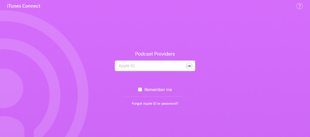 Podcast Connect - apple podcasts