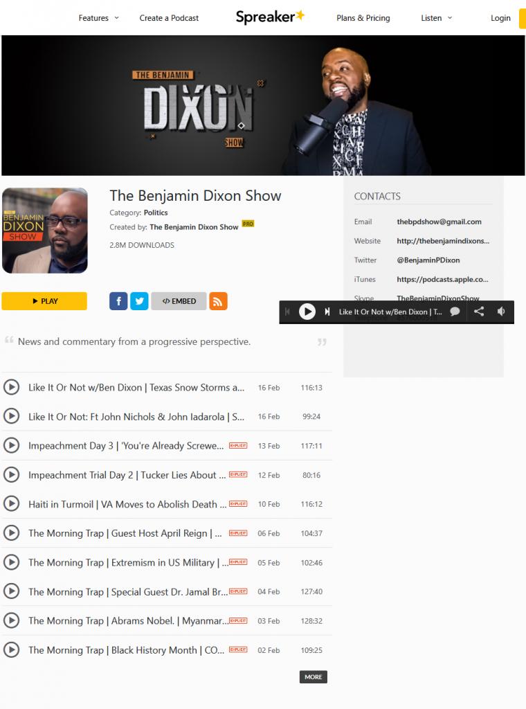spreaker podcast website