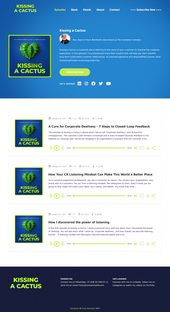 podcastpage website example