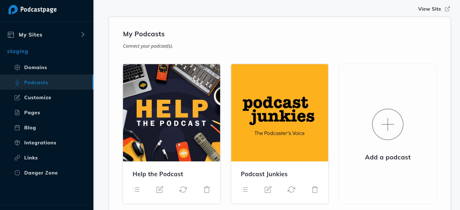 multiple podcasts