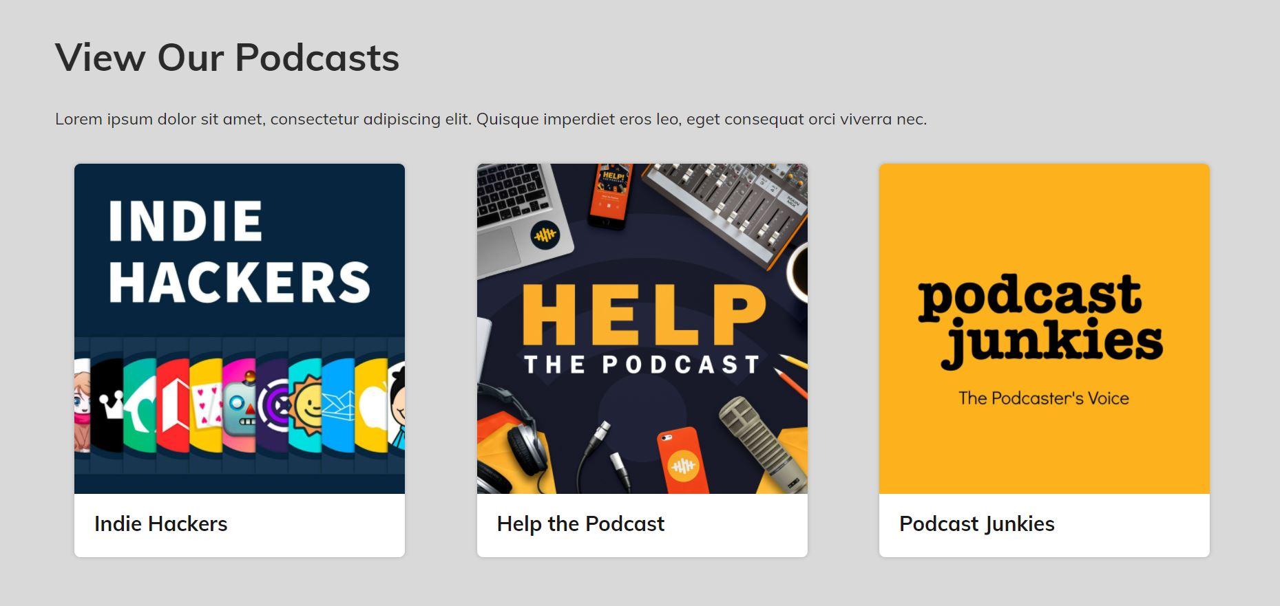 Podcast Network Website