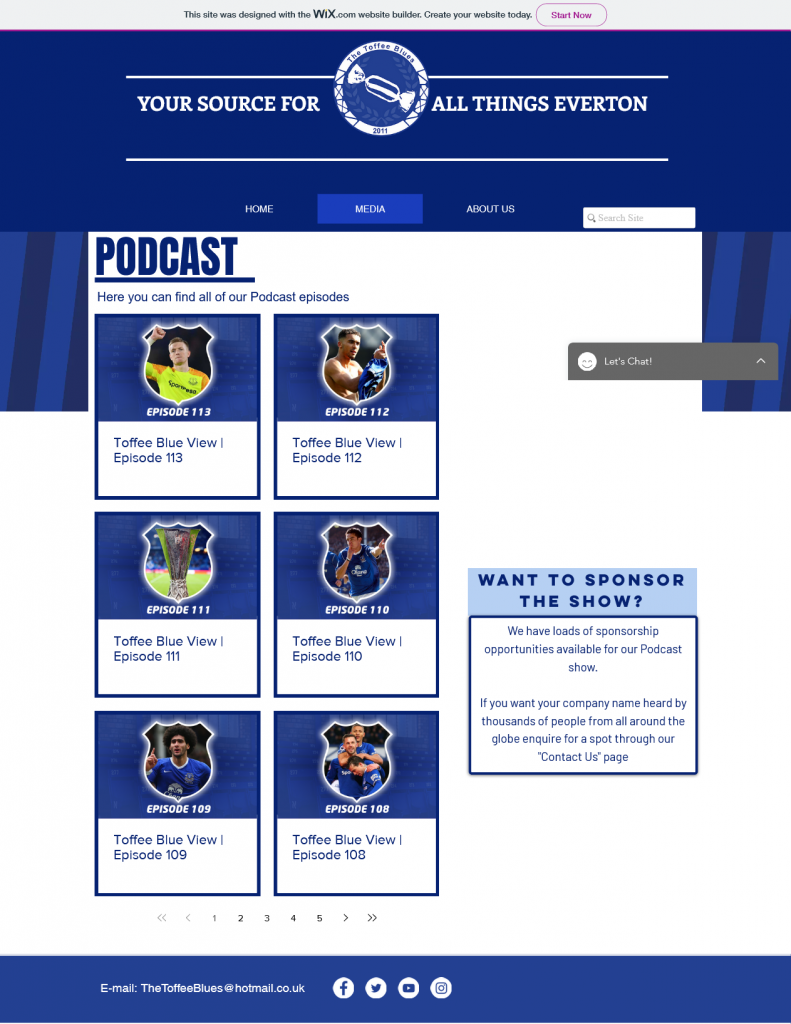 wix podcast website example