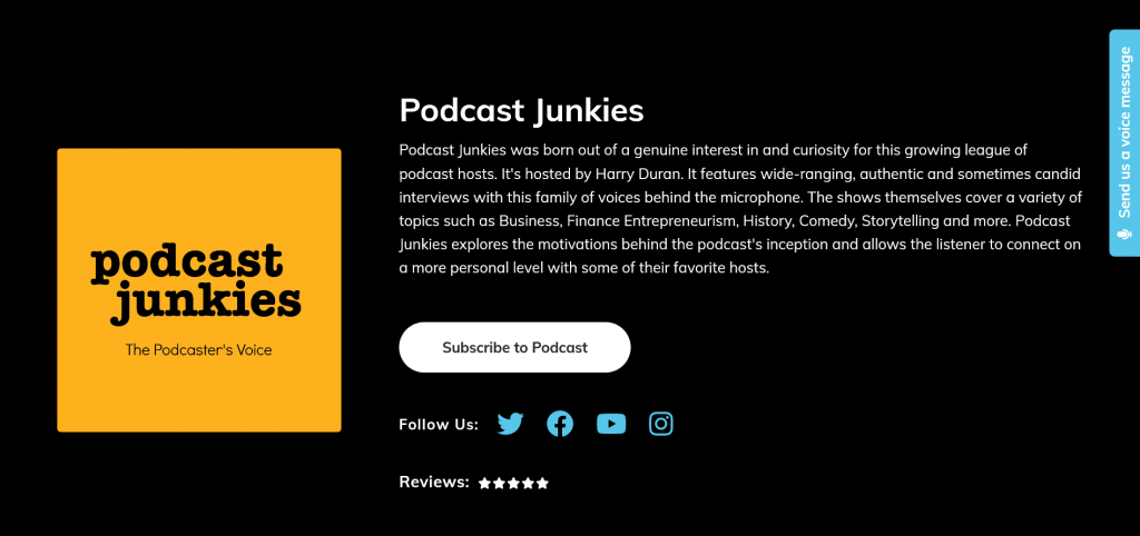 podcast voice messages podcastpage
